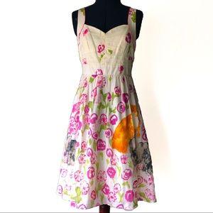 Anthropologie Floreat Retro 1950's Cat Dress  Sz.8